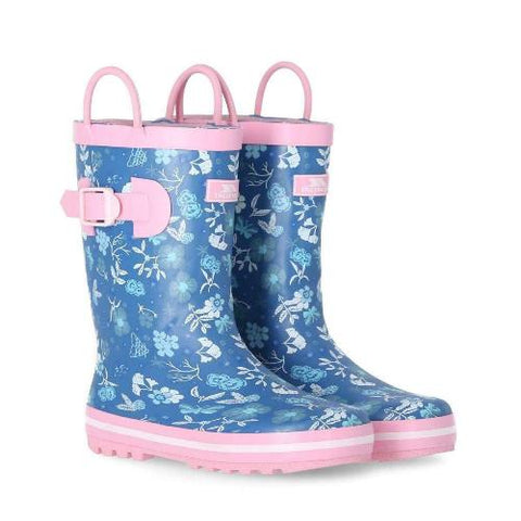 Girls Trespass Bloss Kids Waterproof Wellies