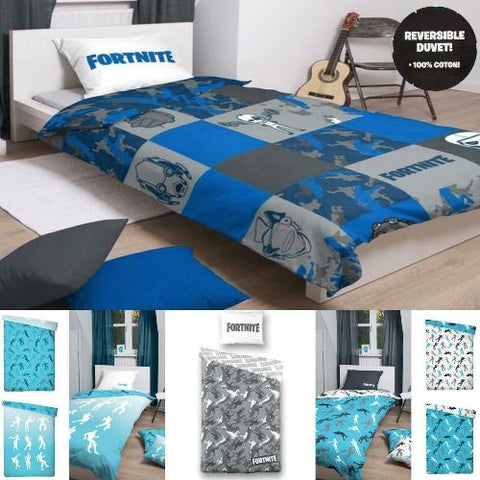 Licenced Fortnite Cotton Reversible Duvet Cover & Pillowcase