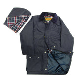 Game Kids Wax Jacket Navy