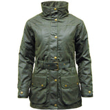 Game Ladies Cantrel Antique Waxed Jacket Olive Closed