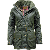 Game Ladies Cantrel Antique Waxed Jacket Olive Front