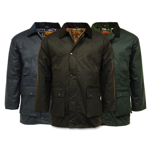 Game Mens British Padded Wax Jacket Gallery
