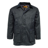 Game Mens British Padded Wax Jacket Navy