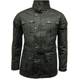 Game Mens Continental Motorcycle Wax Jacket Black Closed