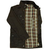 Game Mens Continental Motorcycle Wax Jacket Brown Flat