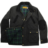 Game Oxford Quilted Wax Jacket Black Flat