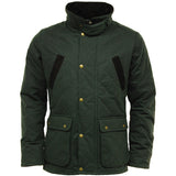 Game Oxford Quilted Wax Jacket Olive Closed
