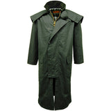 Game Mens Stockman Long Cape Jacket Olive