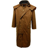 Game Mens Stockman Long Cape Jacket Tan