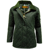 Game Ladies Zara Quilted Wax Jacket Olive