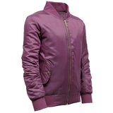 Girls MA1 Bomber Jacket Burgandy Side