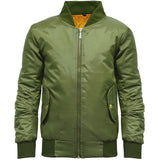 Girls MA1 Bomber Jacket Olive