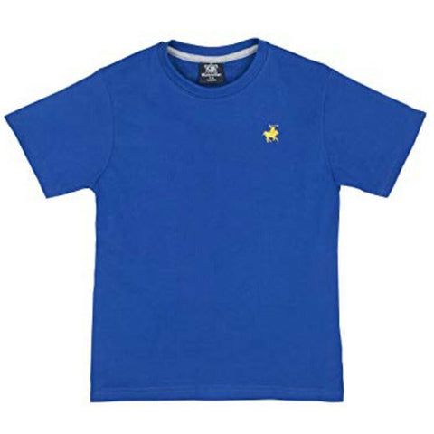 Boys Summer Crew Neck T-Shirt with Horse Logo