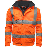 Kapton Hi Vis Bomber Jacket Orange