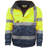 Kapton Hi Vis Bomber Jacket Yellow/Navy
