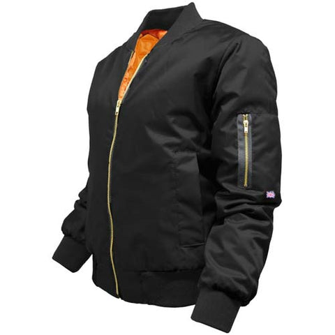 Ladies MA1 Bomber Jacket Black