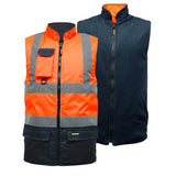 Hi Vis TwoTone Bodywarmer Orange/Navy