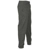 Plain Fleece Joggers Charcoal Side