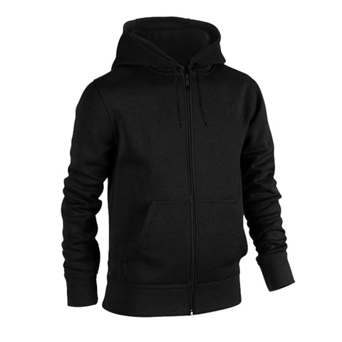 Plain Fleece Zipper Black