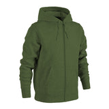 Plain Fleece Zipper Military Green