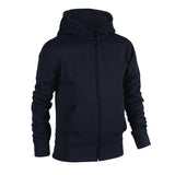 Plain Fleece Zipper Navy