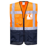 Portwest C476 Warsaw Hi Vis Vest Orange/Navy