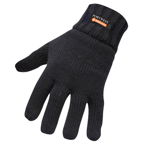 Portwest GL13 Insulatex Gloves Black front