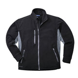 Portwest TX40 Heavy TwoTone Fleece Jacket Black