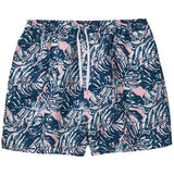 Mens Mesh Lined Printed Swim Trunks