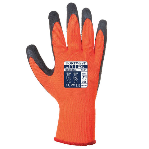 Portwest A140 Thermal Grip Latex Gloves - 12 Pack