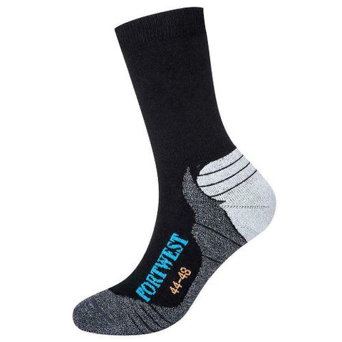 Unisex Portwest Bamboo Hiker Anti-bacterial Sock