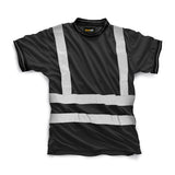 Hi Vis HV007 Crew Neck Shirt Black