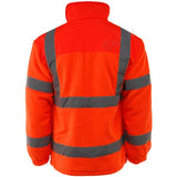 Hi Vis Standsafe Fleece Jacket Orange Back