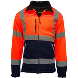 Hi Vis Standsafe Fleece Jacket Orange/Navy