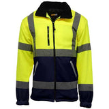 Hi Vis Standsafe Fleece Jacket Yellow/Navy