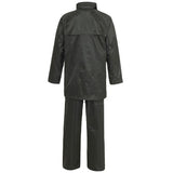 Supertouch Plain and Hi Vis Rainsuit Black