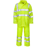 Supertouch Plain and Hi Vis Rainsuit Hi Vis Yellow
