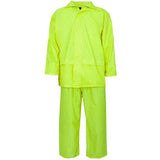 Supertouch Plain and Hi Vis Rainsuit Yellow