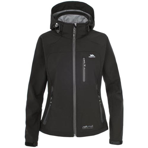 Trespass Bela II Waterproof Jacket in Black