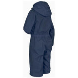 Trespass Button Waterproof Rainsuit Navy Side