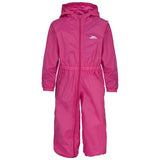 Trespass Button Waterproof Rainsuit in Pink