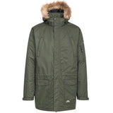 Trespass Jaydin Waterproof Parka Jacket in Olive