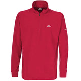 Trespass Masonville Quarter Zip Fleece Red