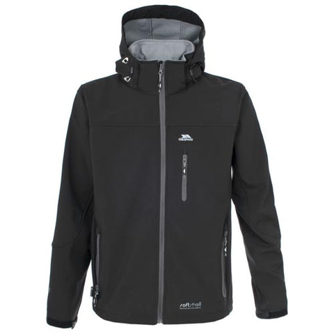 Trespass Mens Accelerator II Softshell Jacket Black