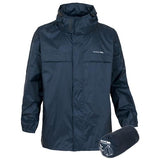 Trespass Kids Unisex Waterproof Packaway Jacket Navy