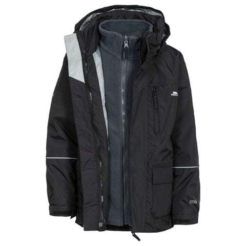 Trespass Prime II 3 in 1 Jacket Black