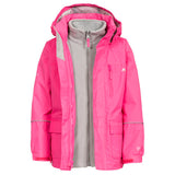 Trespass Prime II 3 in 1 Jacket Fuschia
