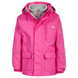 Trespass Prime II 3 in 1 Jacket Fuschia Closed