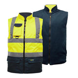 Hi Vis TwoTone Bodywarmer Yellow/Navy