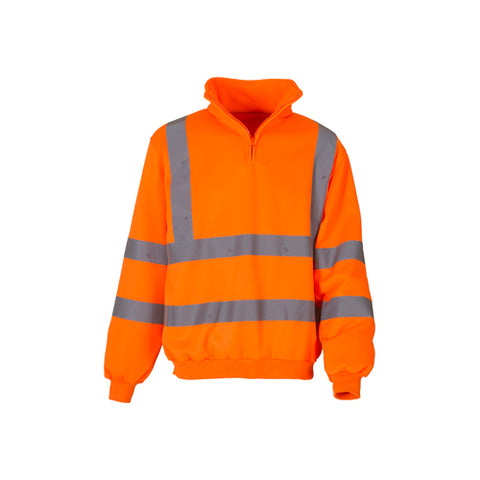 Yoko HVK06 Zip Sweatshirt Orange